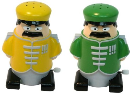 Novelty walking sergeant salt n and corporal pepper Salt n pepper pots