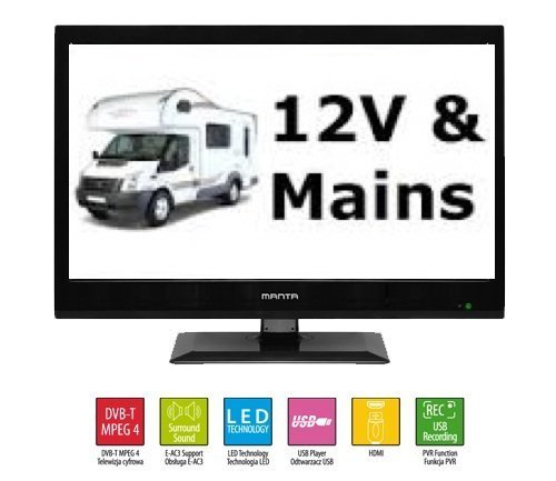 manta 15 6 inch led 12v tv with digital freeview usb record ref 15 16 19 22 24 ebay. Black Bedroom Furniture Sets. Home Design Ideas