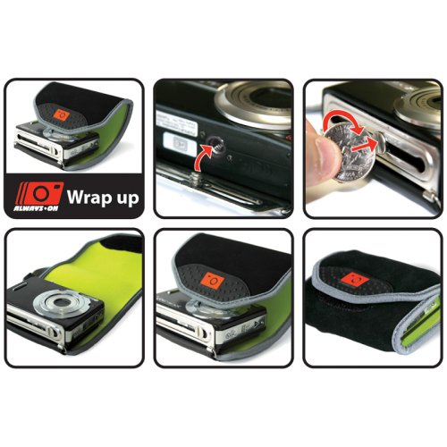 Always on Wrap Up Compact Digital Camera Case Pouch Bag With Tripod - 3-Pack Enlarged Preview