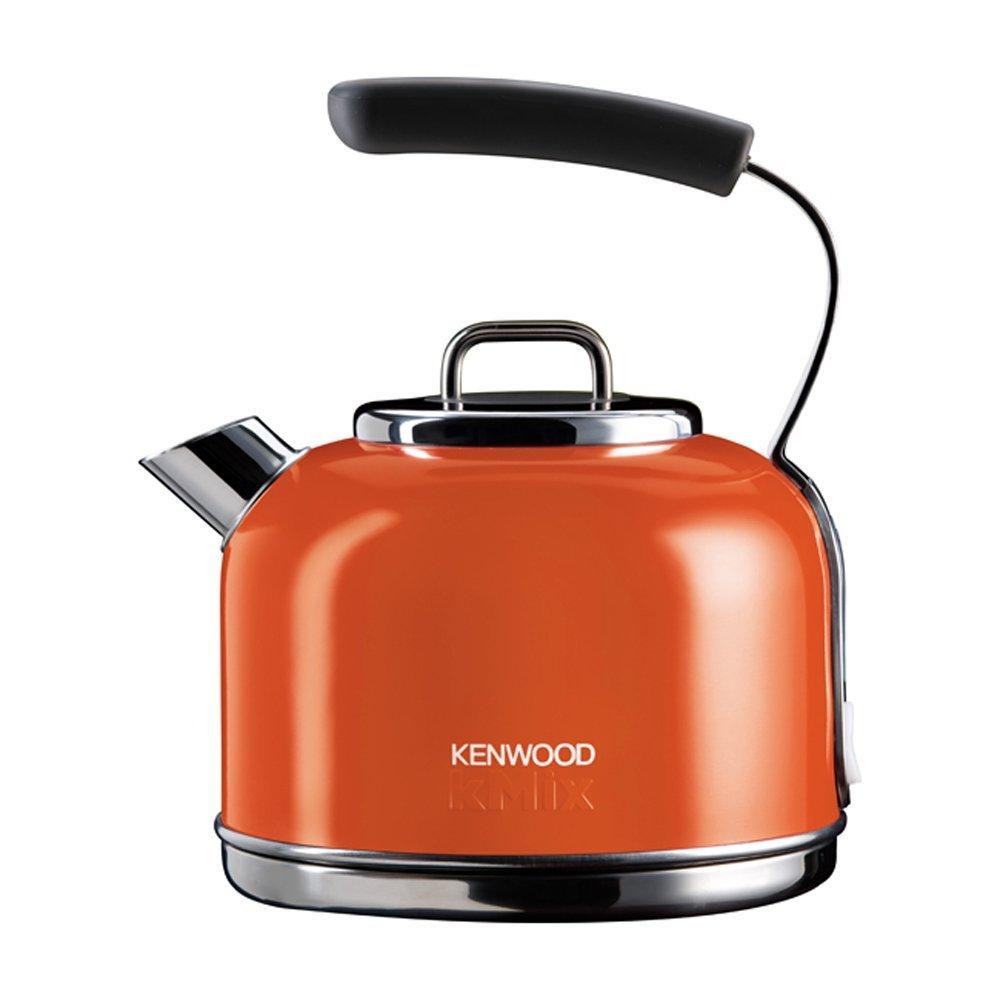 kenwood skm037a kmix 2200w 1 2l traditionell edelstahl wasserkocher orange ebay. Black Bedroom Furniture Sets. Home Design Ideas