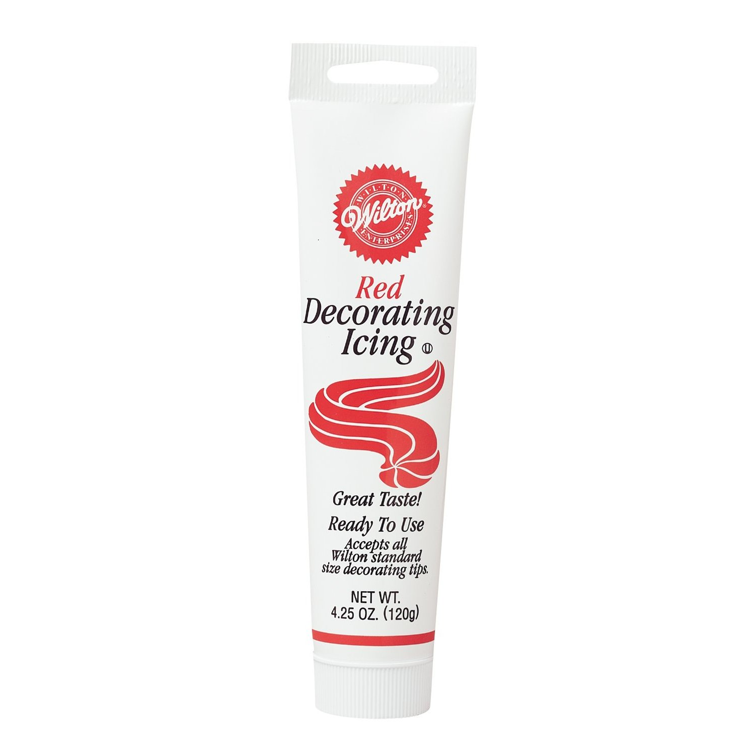 Wilton RED Icing Tube Ready To Use Cake Cupcake Cookie ...