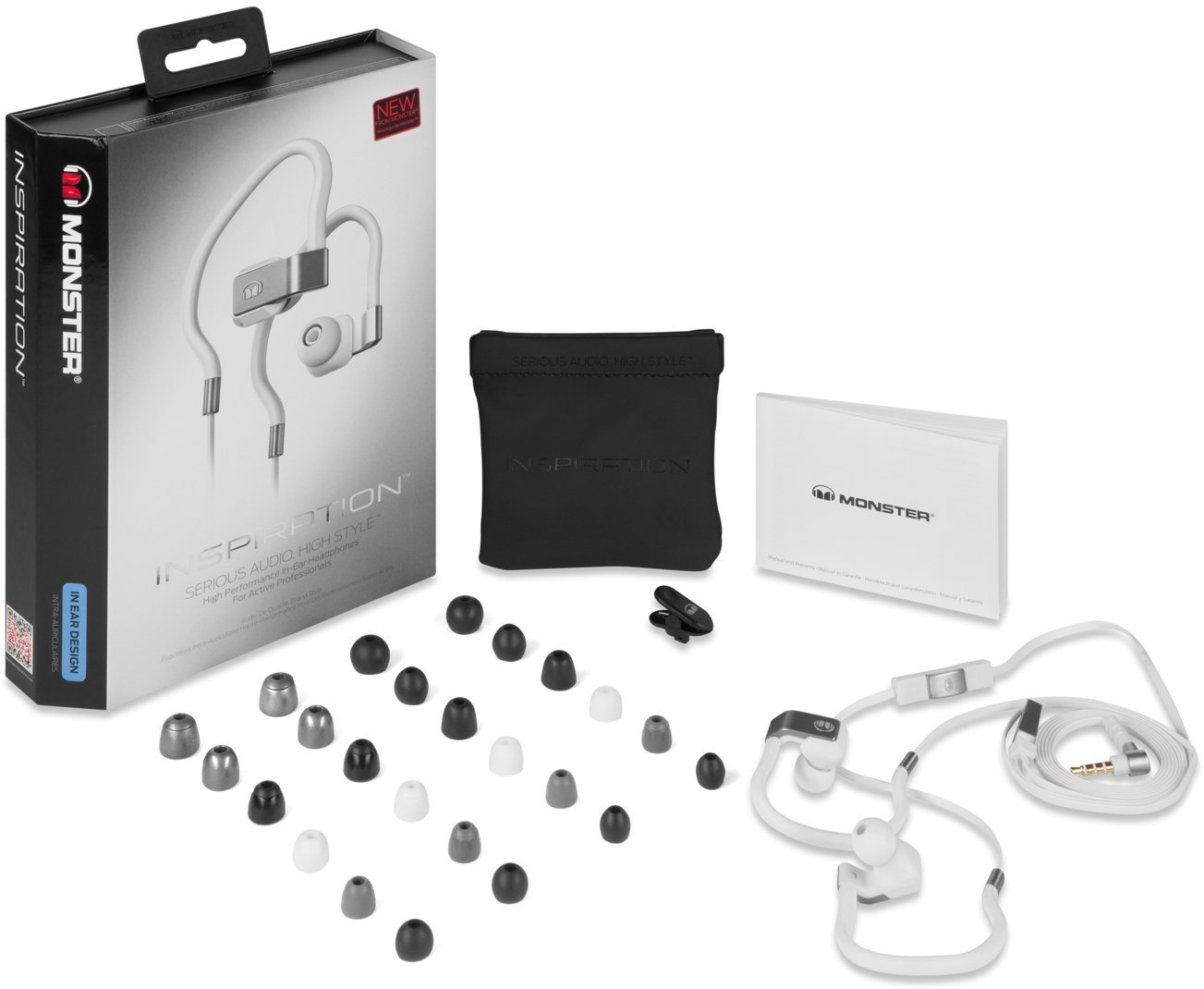monster inspiration bruit isolation en oreille casque t te t l phones avec micro ebay. Black Bedroom Furniture Sets. Home Design Ideas
