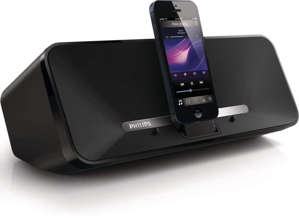 philips ad315 speaker dock station for iphone 5 5s 5c ipad 4 lighting connector ebay. Black Bedroom Furniture Sets. Home Design Ideas