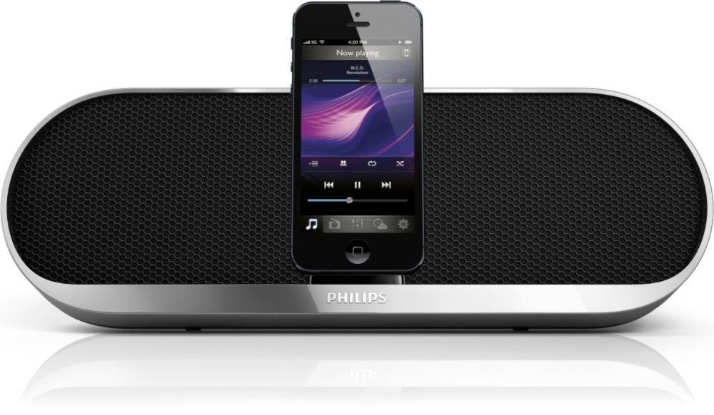 philips ds7580 docking lautsprecher system f r iphone 5 ipod nano 7g touch 5g ebay. Black Bedroom Furniture Sets. Home Design Ideas