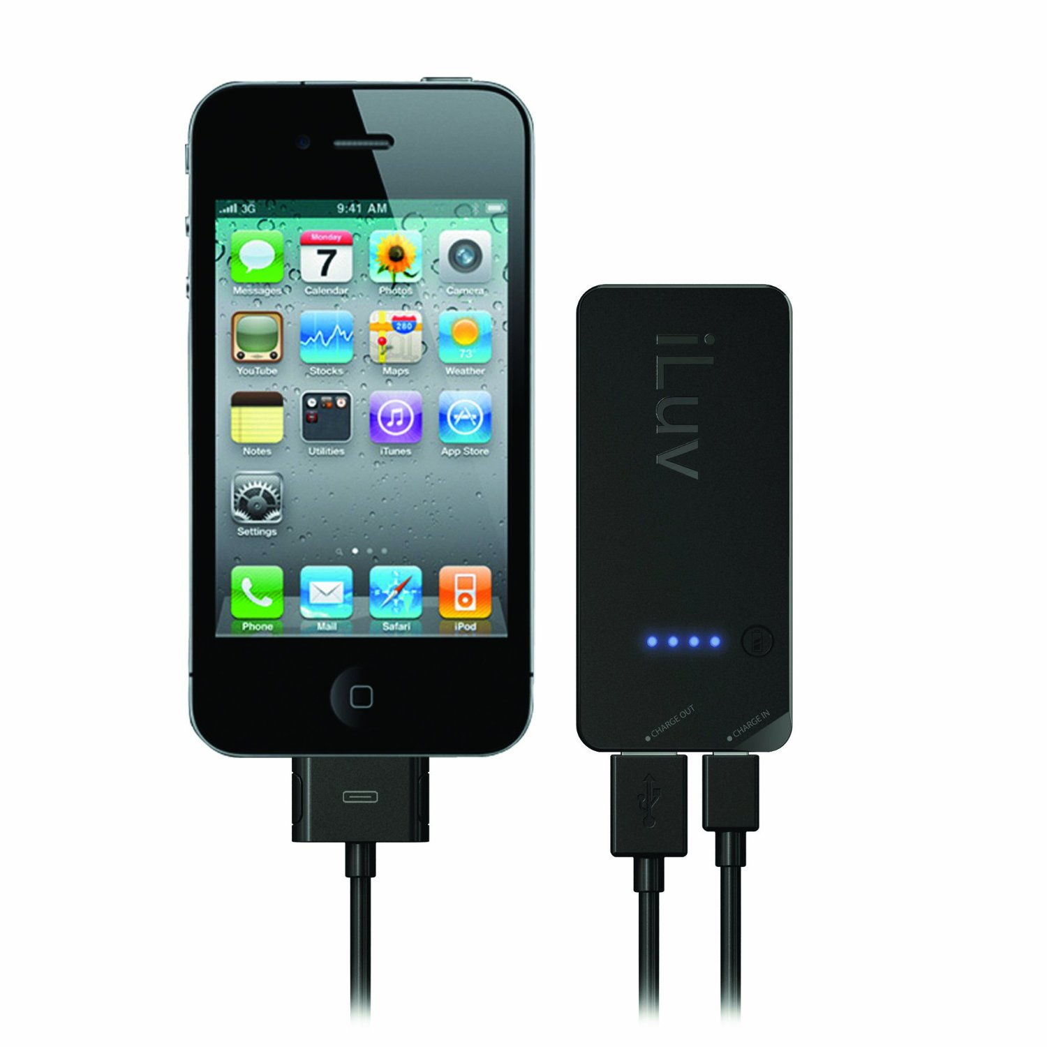 iluv mini portable usb rechargeable battery kit for iphone. Black Bedroom Furniture Sets. Home Design Ideas