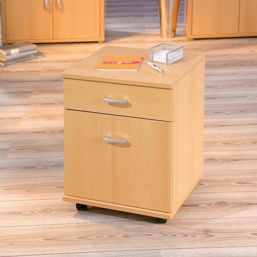capo 7 rollcontainer 1 schrank 1 schublade lagerschrank buche farbe ebay. Black Bedroom Furniture Sets. Home Design Ideas