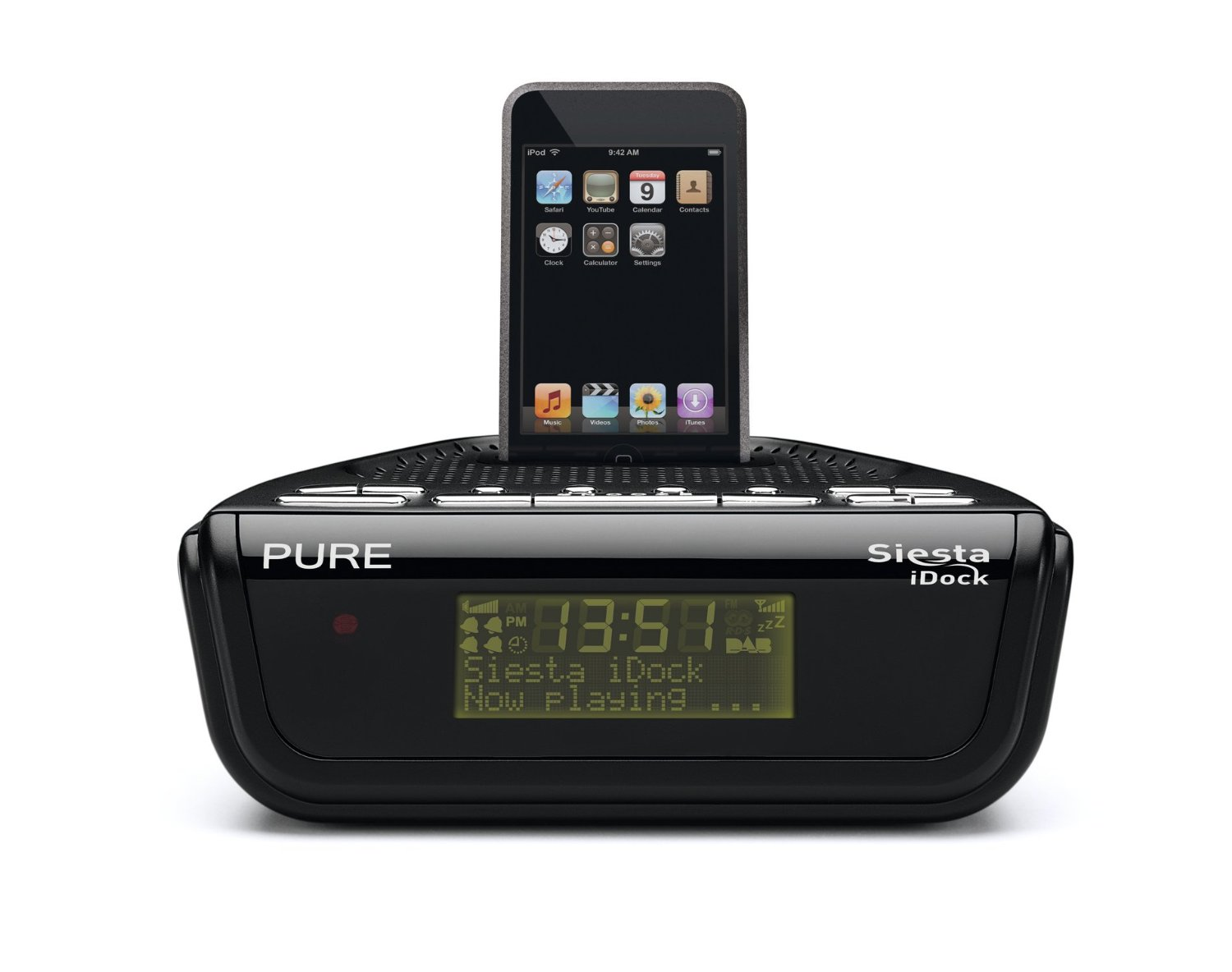 pure outlet siesta idock dab fm clock radio with ipod iphone dock station ebay. Black Bedroom Furniture Sets. Home Design Ideas