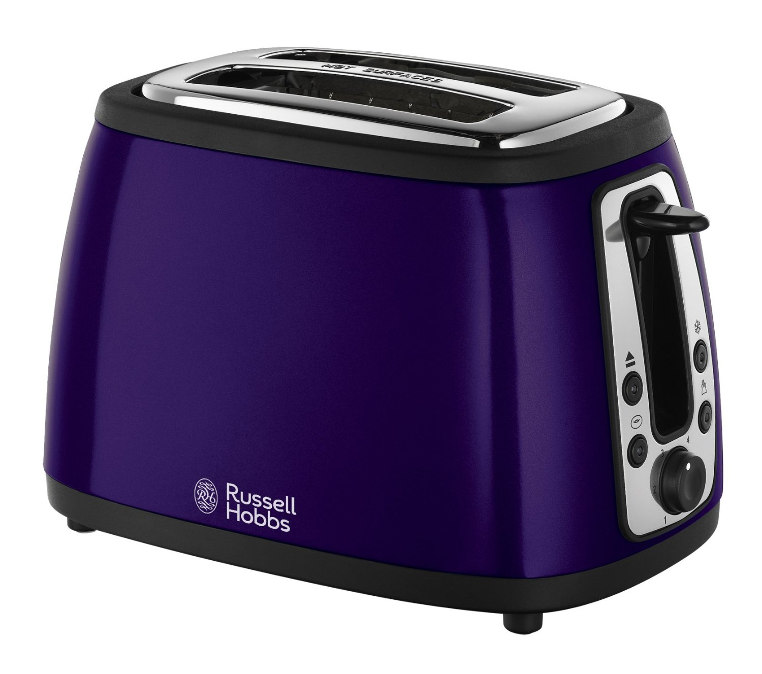 russell hobbs 19153 heritage 2 slice toaster metallic purple new ebay. Black Bedroom Furniture Sets. Home Design Ideas