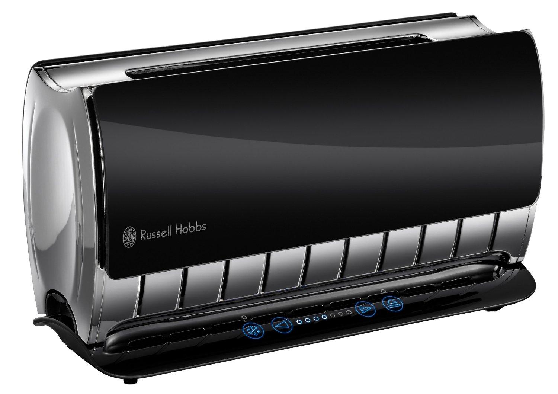 russell hobbs 18366 glas touch steuerung 2 scheiben toaster schwarz neu ebay. Black Bedroom Furniture Sets. Home Design Ideas