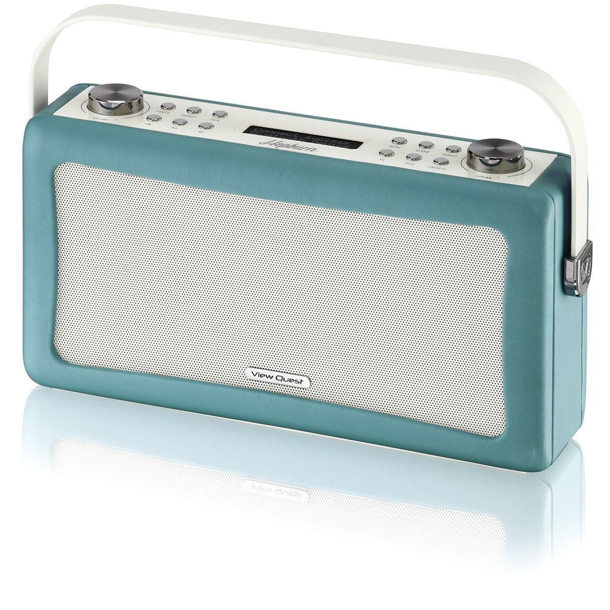 viewquest hepburn dab fm radio bluetooth lautsprecher system mit aux teal ebay. Black Bedroom Furniture Sets. Home Design Ideas