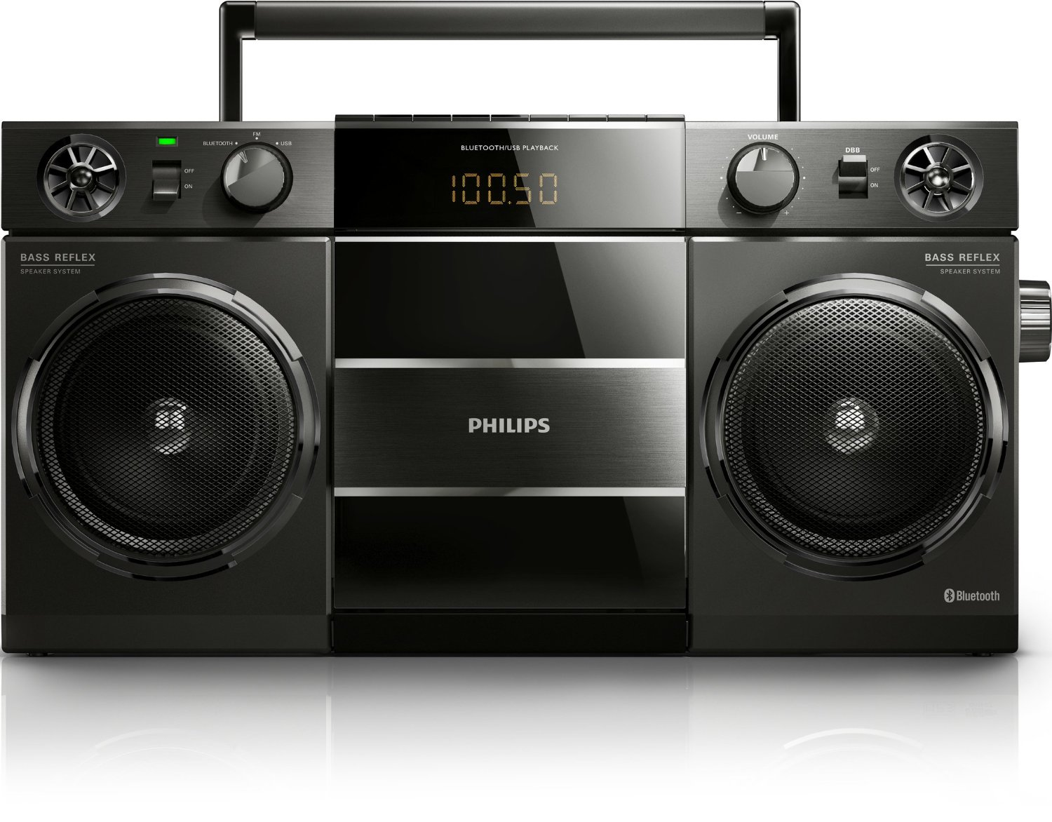philips bluetooth boombox retro ghettoblaster radio speaker hi fi sound system ebay. Black Bedroom Furniture Sets. Home Design Ideas