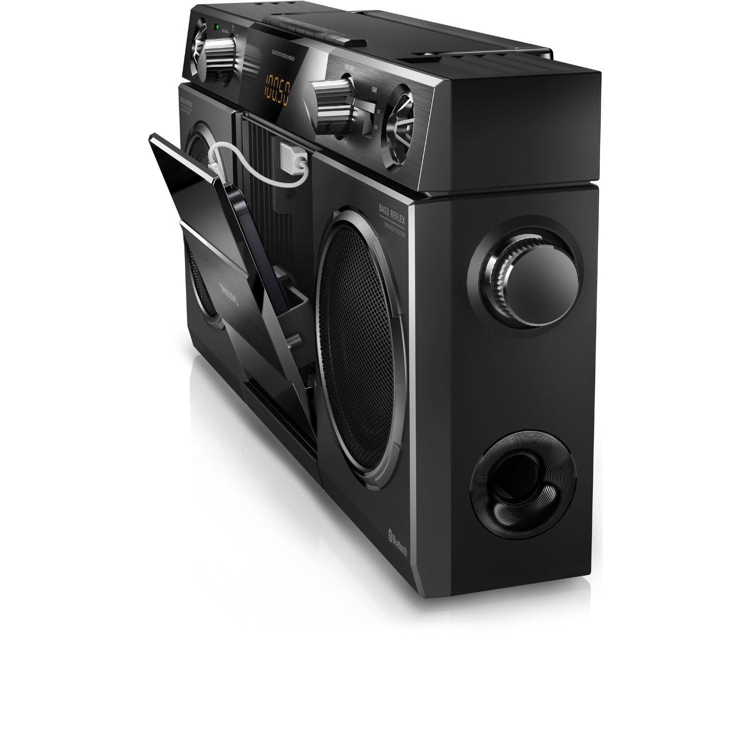 Philips bluetooth boombox retro ghettoblaster radio speaker hi fi sound syste - Phillips ghetto blaster ...
