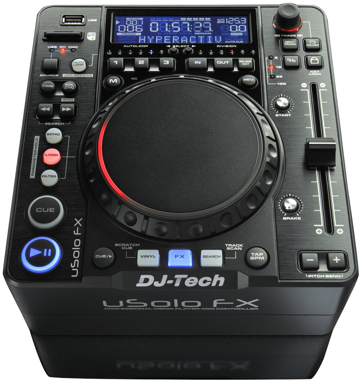 dj tech usolo fx compact mp3 wav media player with usb sd card midi control deck. Black Bedroom Furniture Sets. Home Design Ideas