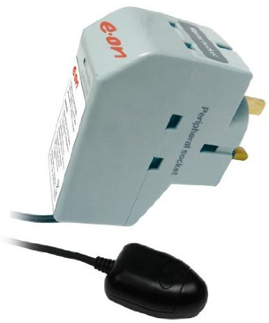 EON Energy Saver Powerdown Surge Protection TV Plug & Remote Power Down Sensor  Enlarged Preview
