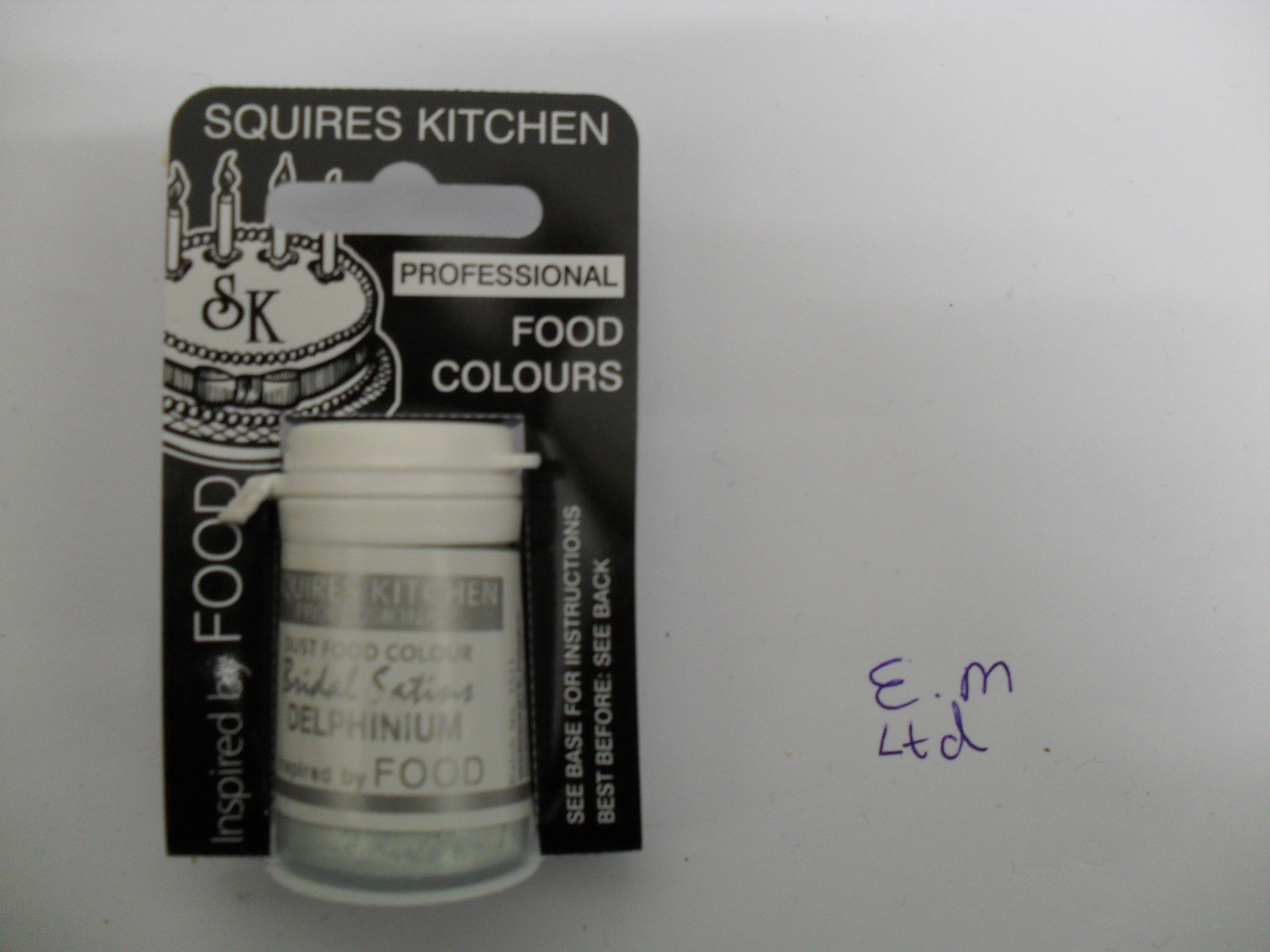 Squires Kitchen BRIDAL SATINS Edible Food Dust Powder Colouring 4G Enlarged Preview