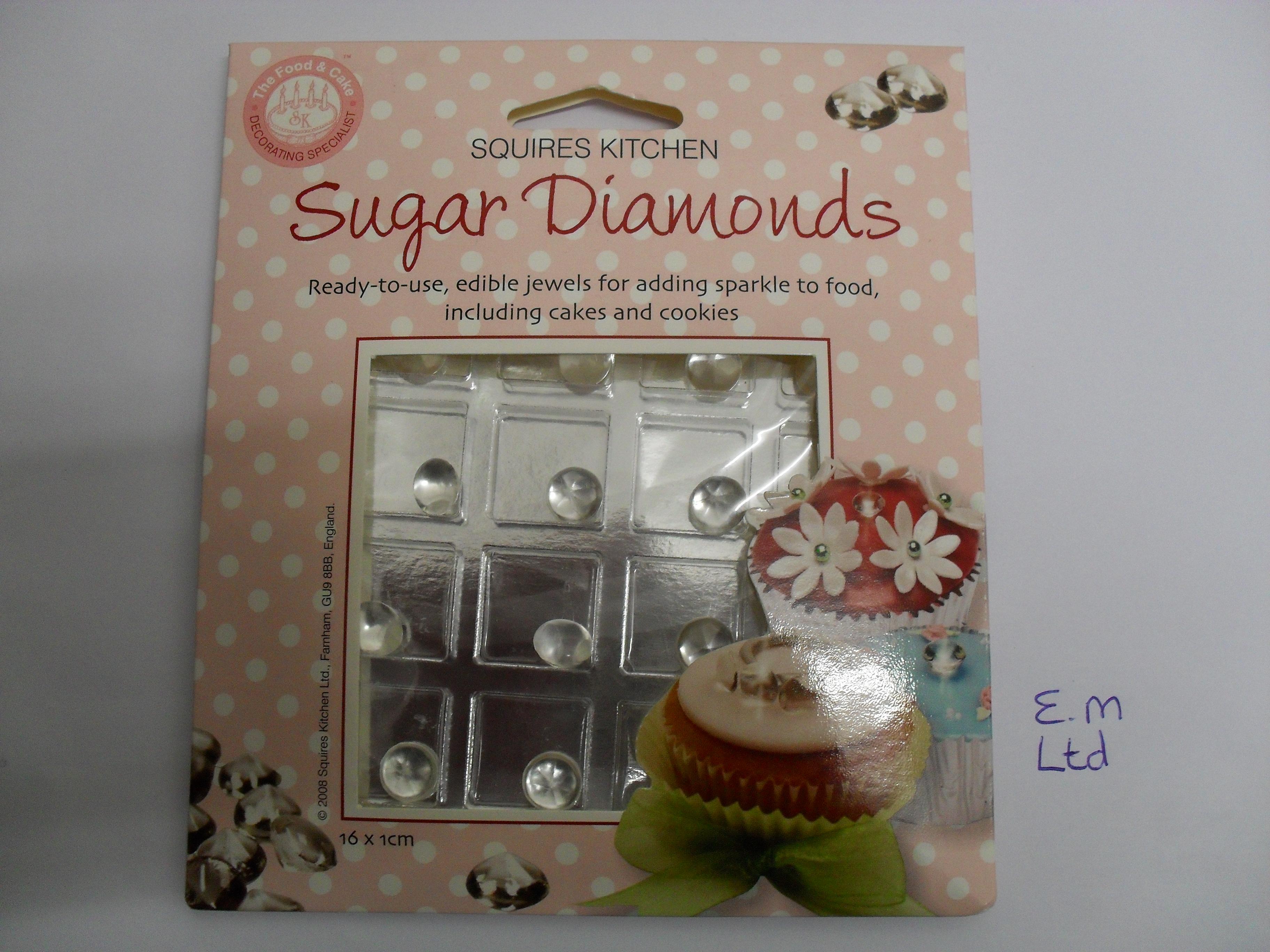 Hochzeit torten dekoration essbare zucker diamanten von for Essbare dekoration