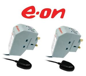 2 x EON Energy Saver Surge Protection TV Plug & Remote Power Down Sensor  Enlarged Preview