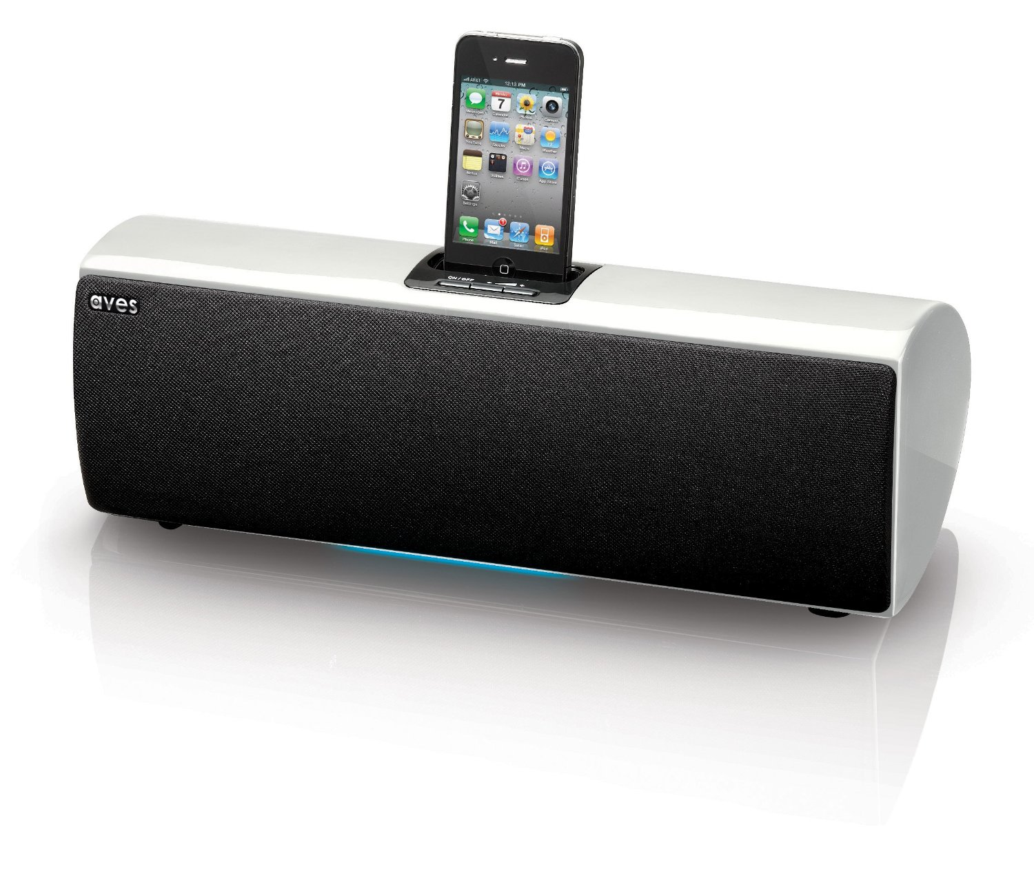 aves sapphire wireless bluetooth speaker ipod iphone 1 2 3 4 dock station white ebay. Black Bedroom Furniture Sets. Home Design Ideas