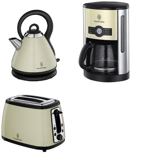 russell hobbs heritage wasserkocher 2 scheiben toaster kaffeemaschine creme ebay. Black Bedroom Furniture Sets. Home Design Ideas