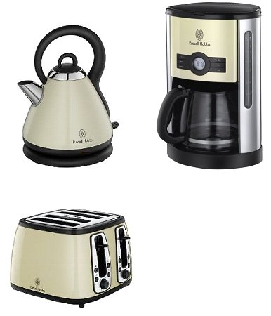 russell hobbs heritage wasserkocher 4 scheiben toaster. Black Bedroom Furniture Sets. Home Design Ideas