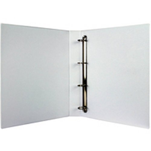 1 x Bensons PVC A5 4 Ring Binder File For Filing - White Enlarged Preview