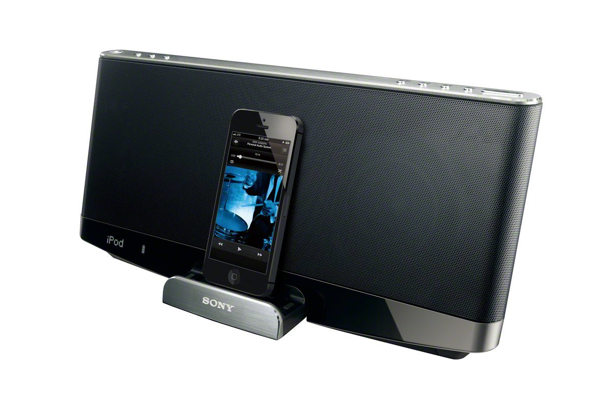 sony rdp x280 bluetooth wireless speaker with dock station for iphone 5 5c 5s ebay. Black Bedroom Furniture Sets. Home Design Ideas