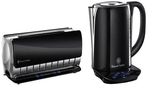 russell hobbs glas touch steuerung 18365 wasserkocher 18366 2 scheiben toaster ebay. Black Bedroom Furniture Sets. Home Design Ideas
