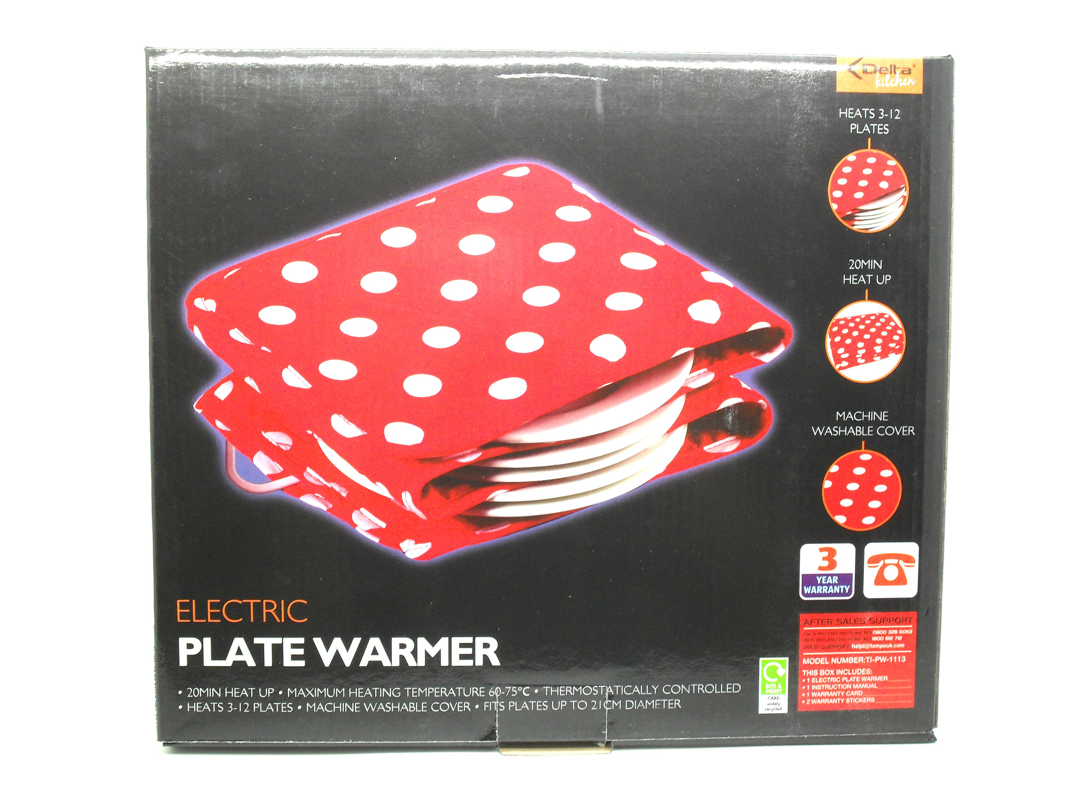 delta kitchen electric plate warmer blanket heats 3 to 12. Black Bedroom Furniture Sets. Home Design Ideas