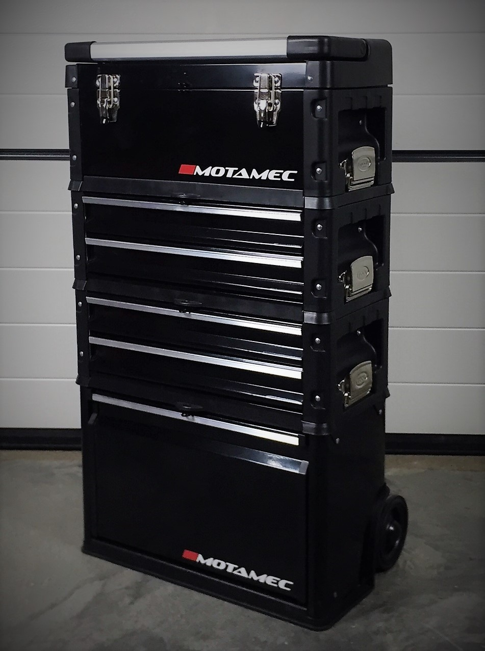 Motamec Modular Tool Box Trolley Mobile Cart 4 Module