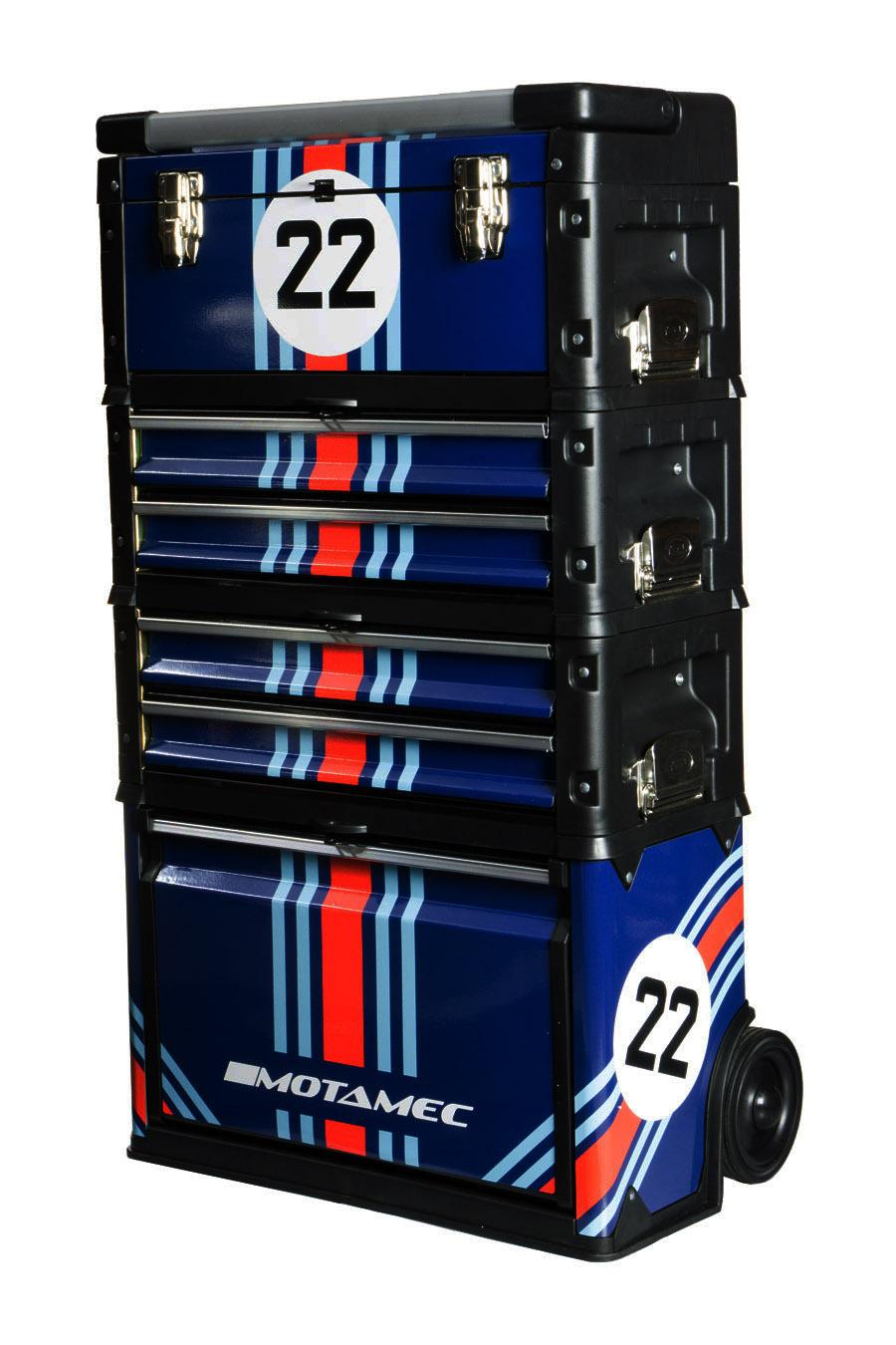 Motamec Modular Tool Box Trolley Mobile Cart Cabinet Chest