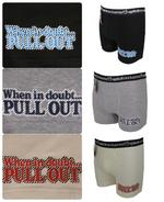 Mens Boxer Shorts Funny Rude Comedy 'If In Doubt'