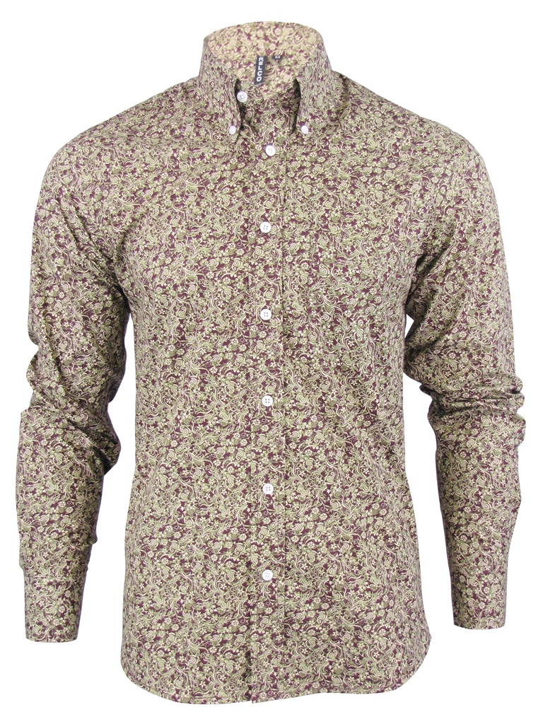 hemd shirt herren langarm s paisley modern retro kn pfe. Black Bedroom Furniture Sets. Home Design Ideas