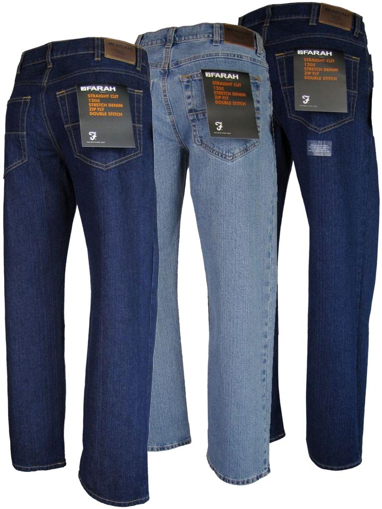Mens Farah Jeans 12 Oz Denim - Straight Cut Zip Fly Enlarged Preview