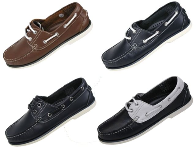 Mens Deck Boat Moccasin Leather Shoes in 4 Colours Enlarged Preview