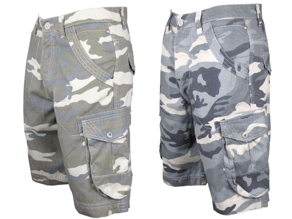 short bermuda homme cargo dissident motif camouflage. Black Bedroom Furniture Sets. Home Design Ideas