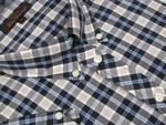 Mens Ben Sherman Shirt S/S Navy Check Plus/ King Size