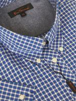 Mens Ben Sherman Shirt S/S Abyss Blue Check King/ Plus Size