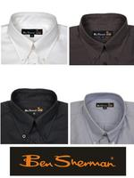 Mens Ben Sherman Kingsize Short Sleeves Oxford Shirt Button Down Collar