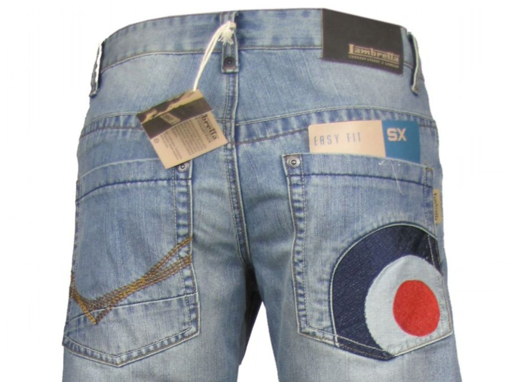 Mens Lambretta Jeans Denim Blue Mod 'Target' Easy Fit Enlarged Preview