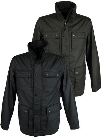 Mens Ben Sherman Military Jacket/ Coat Coated Cotton Black or Khaki Preview