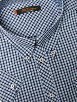 Mens Ben Sherman Shirt S/S Purple/Blue/White Check Kingsize