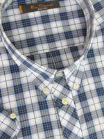 Mens Ben Sherman Shirt S/S White/Red/Navy Check - Kingsize