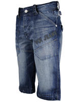 Mens Voi Jeans Shorts Blue Denim Embriodered Logo