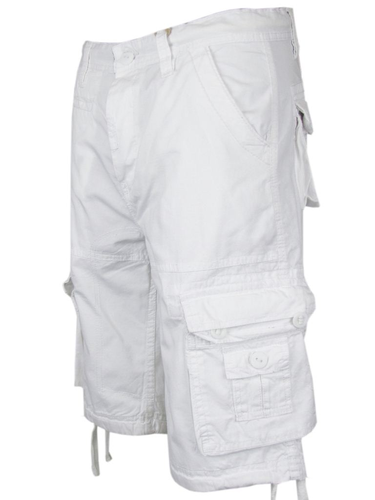 Southpole Young Men's Cargo Shorts, Size: Small, White. When preparing to take on the day, choose a comfortable look made for adventure in the form of these young men's cargo shorts from Southpole. A wide elastic waistband adjusts with a durable drawstring, allowing for the perfect fit.