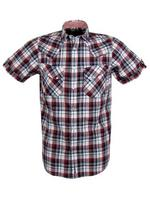 Mens Ben Sherman Laundered Check Western Shirt Mod Fit