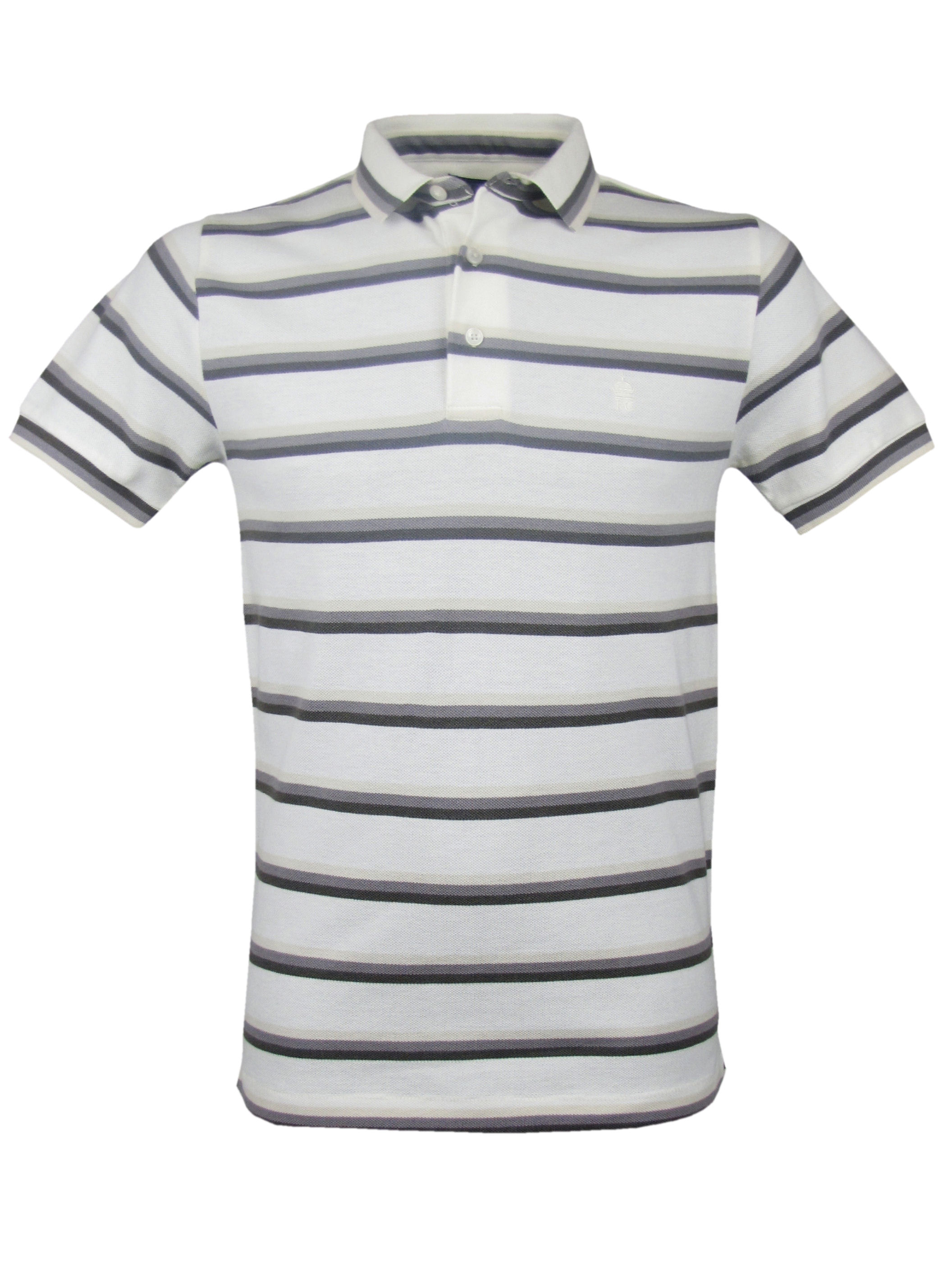 mens fcuk french connection cream striped polo t shirt. Black Bedroom Furniture Sets. Home Design Ideas