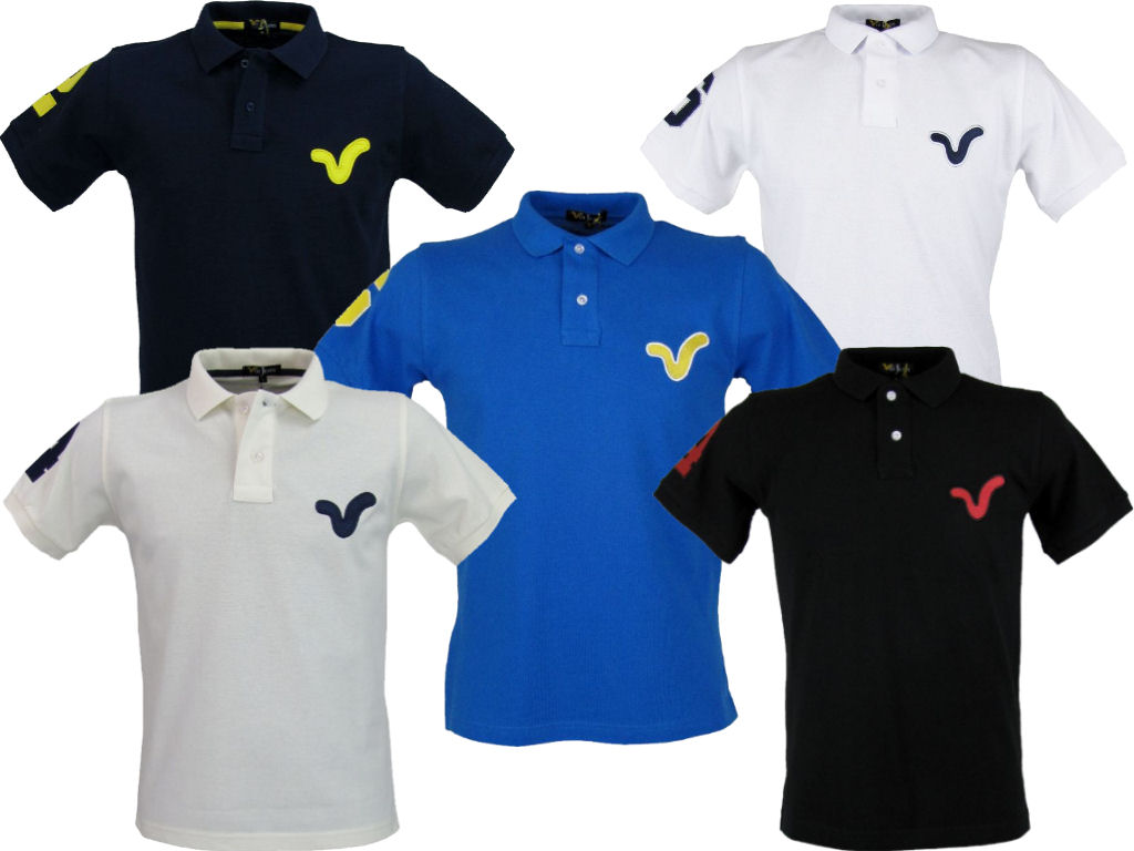 Mens Voi Jeans Polo T Shirt Large Voi Logo Wyndham S/S Enlarged Preview