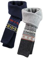 Mens Ben Sherman Scarf 'Made In Scotland' Fair Isle Wool