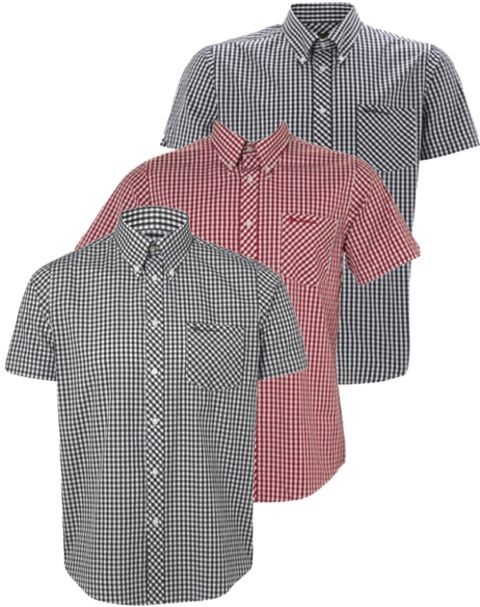 Mens Ben Sherman Shirt WiltShire Short Sleeve Gingham Check Enlarged Preview
