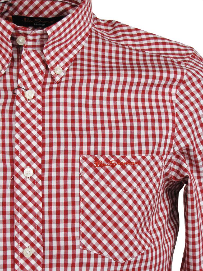 Ben Sherman Shirt 39 Wiltshire 39 Long Sleeve Gingham Check